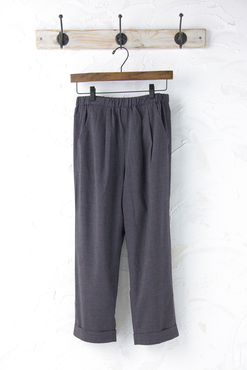 チェック柄パンツ(製品洗い)