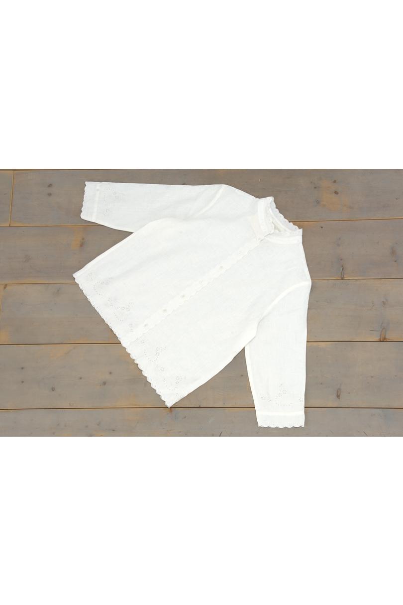 カットワーク前開きシャツ(製品洗い)