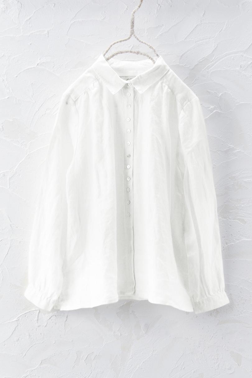 ボタンアクセントシャツ(製品洗い)