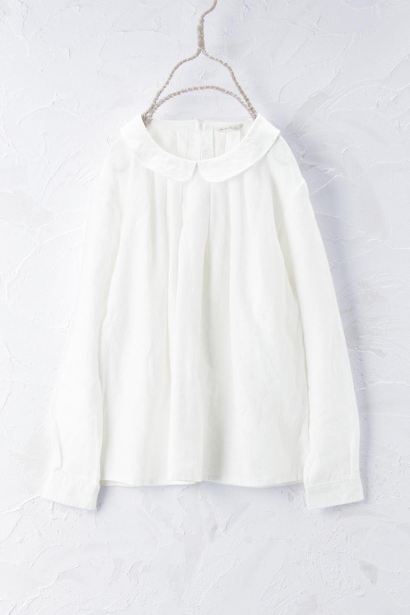 衿付きタックプルオーバー(製品洗い)