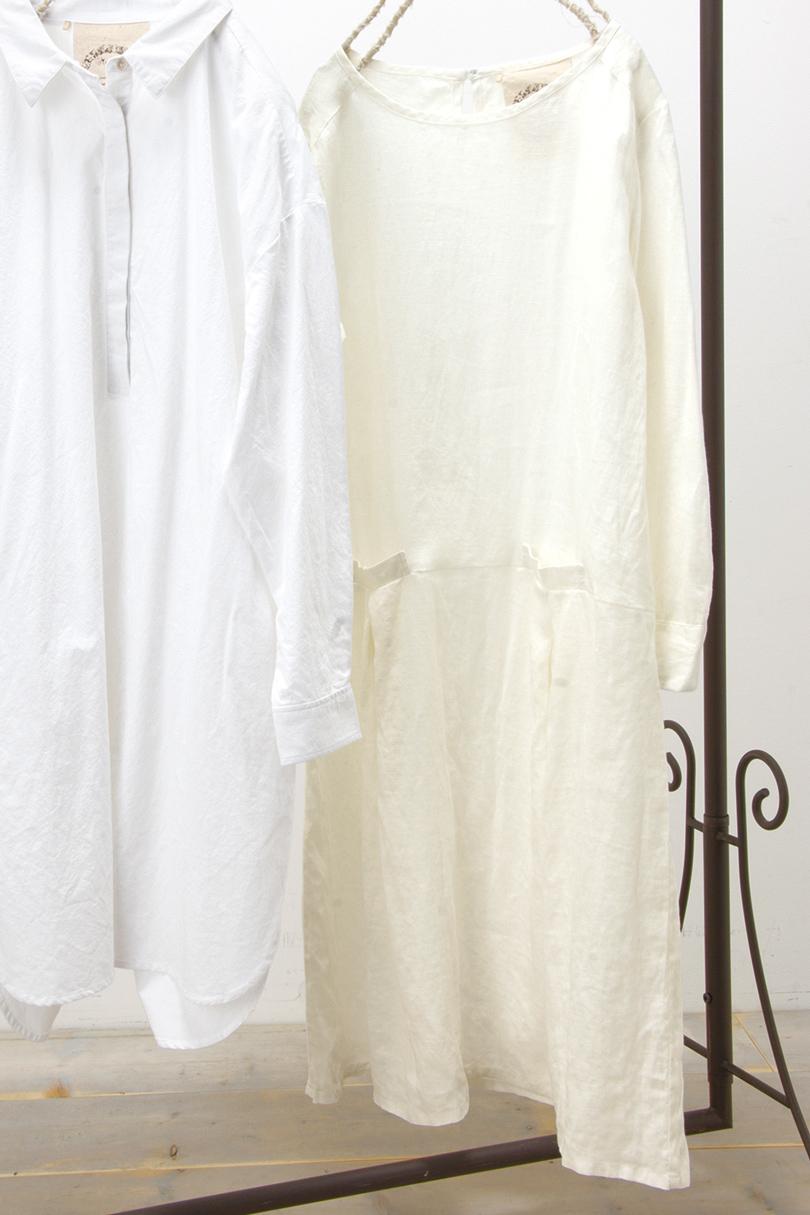 ポケット付きワンピース(製品洗い)