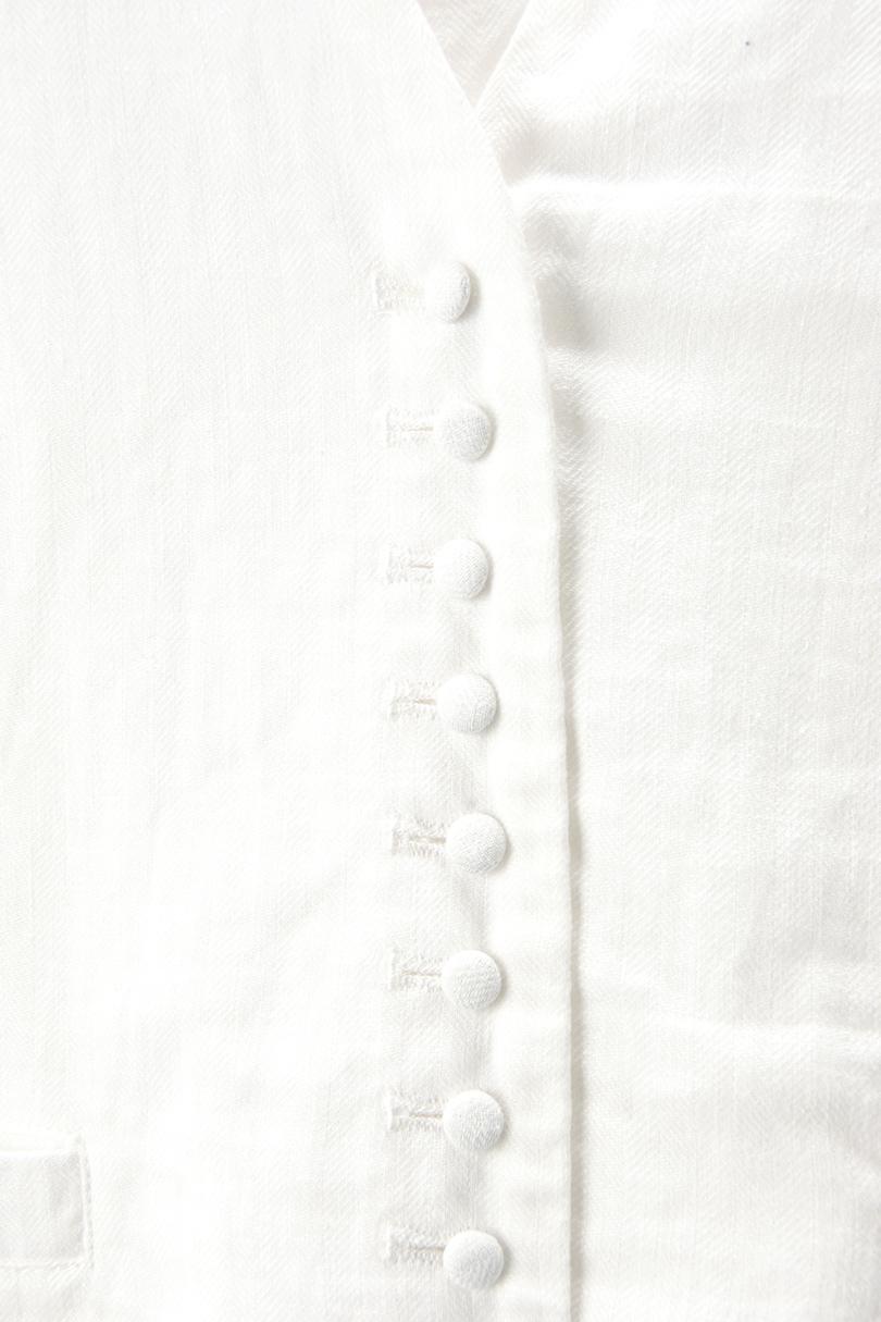 くるみボタンベスト(製品洗い)