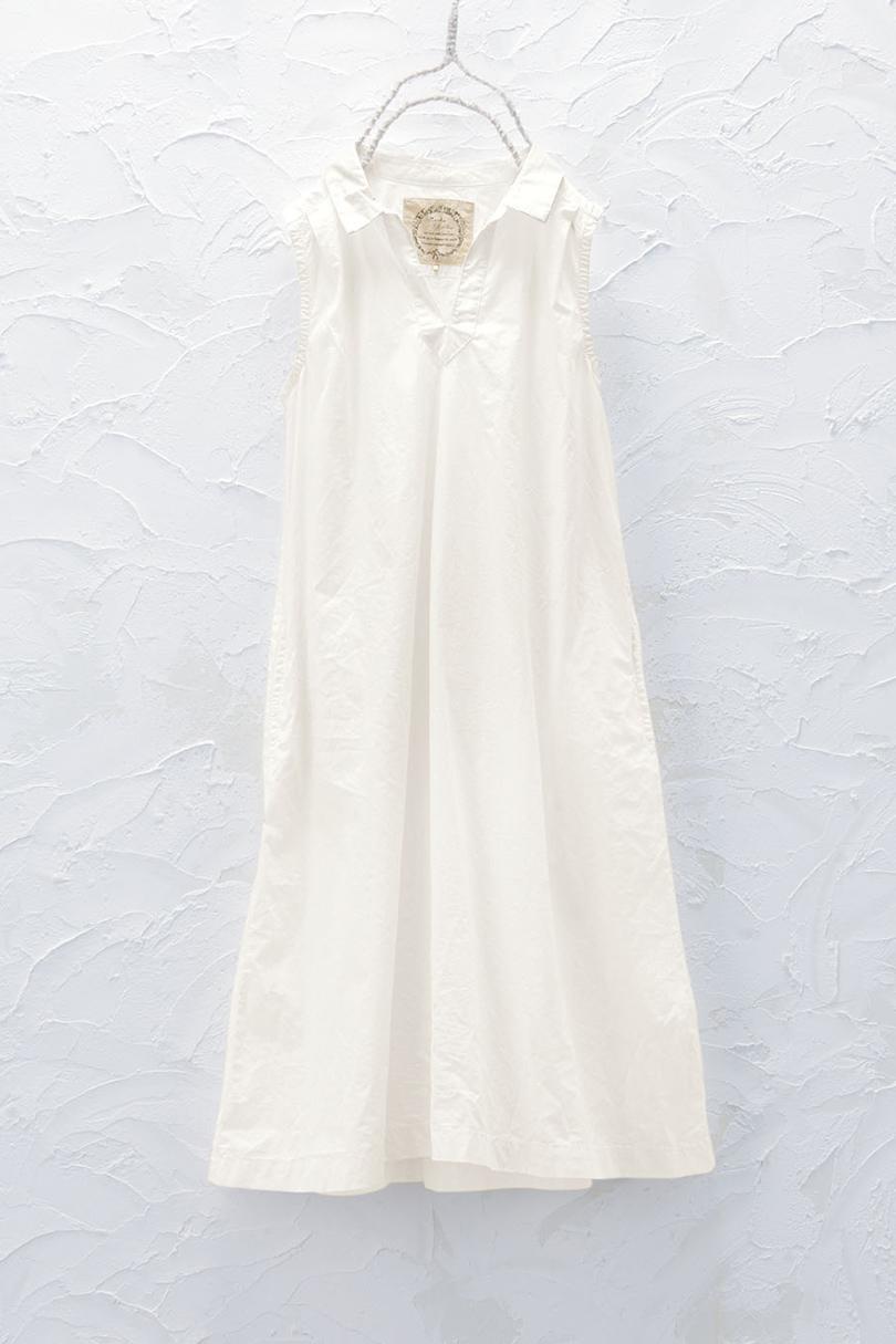 衿付きノースリーブワンピース(製品洗い)