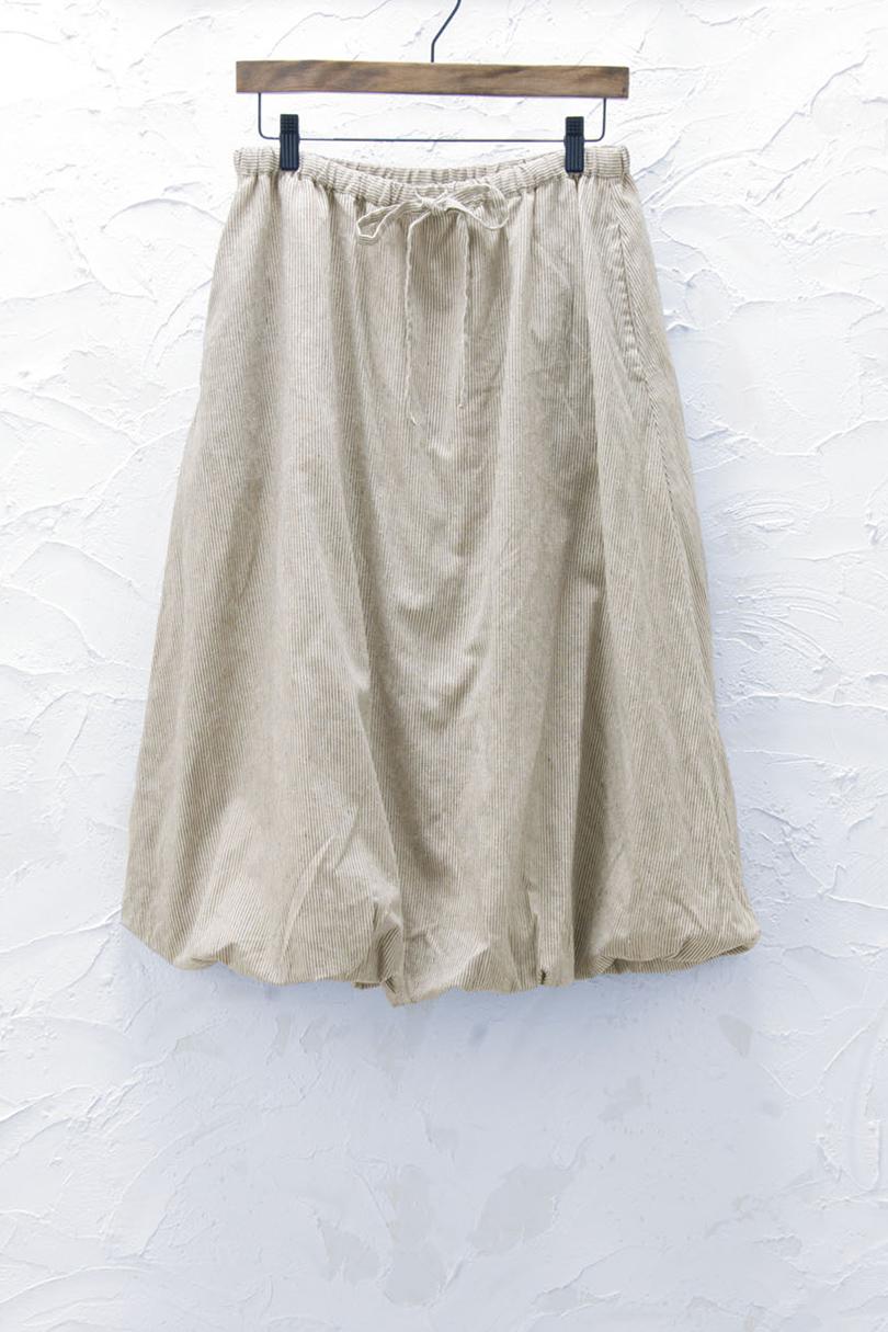 ストライプバルーンスカート(製品洗い)