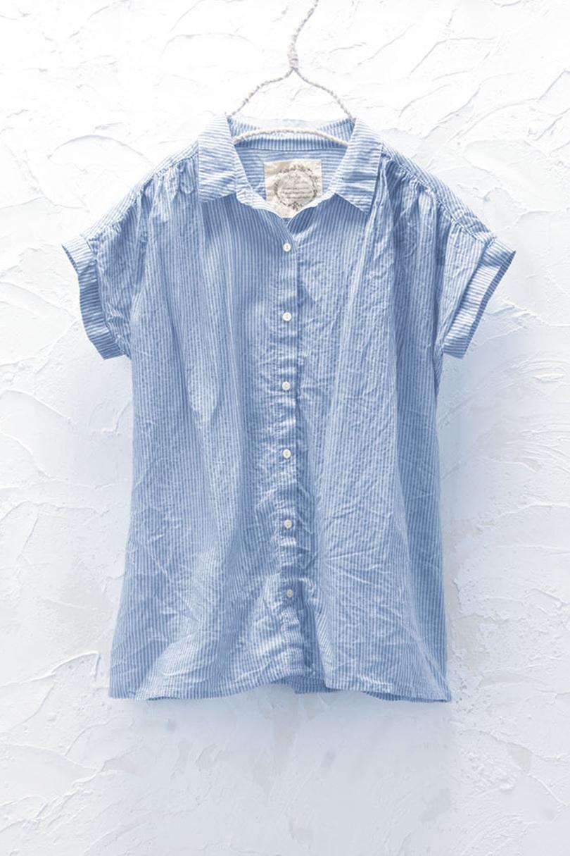 コットンギャザーシャツ(製品洗い)