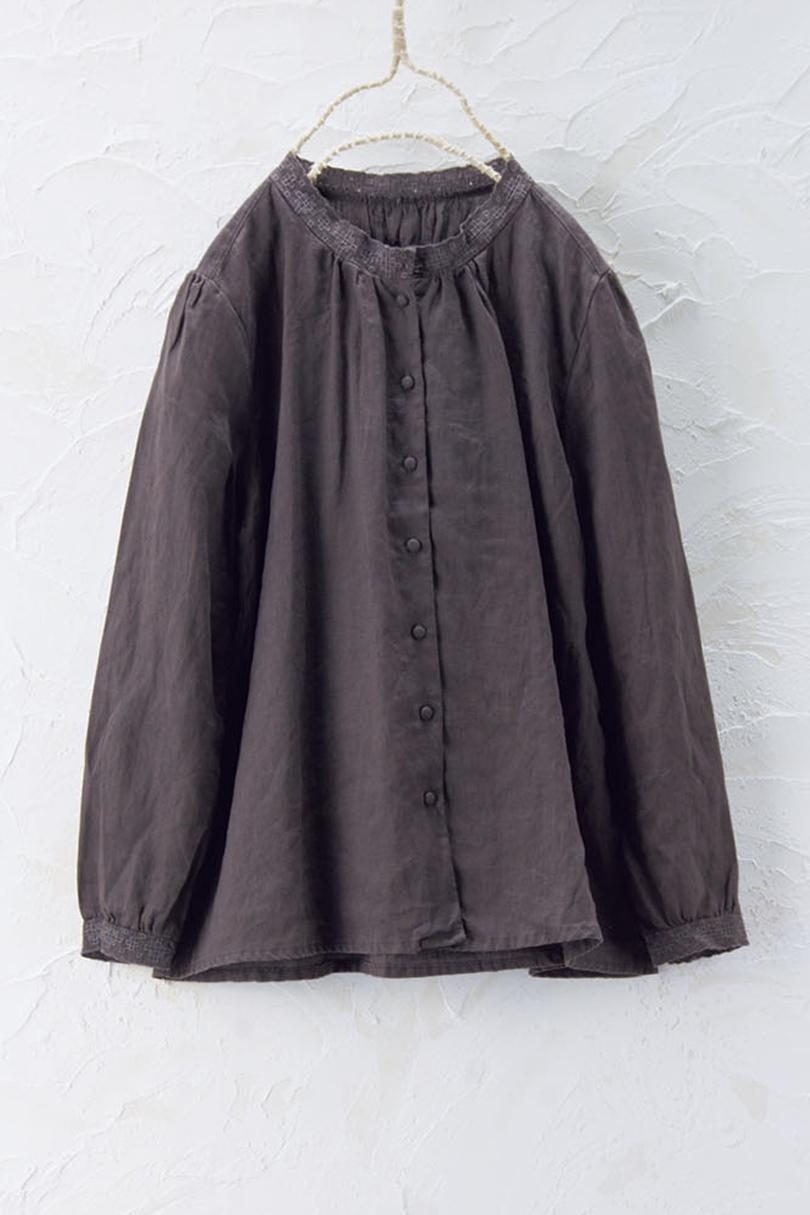 フリル衿シャツ(製品洗い)