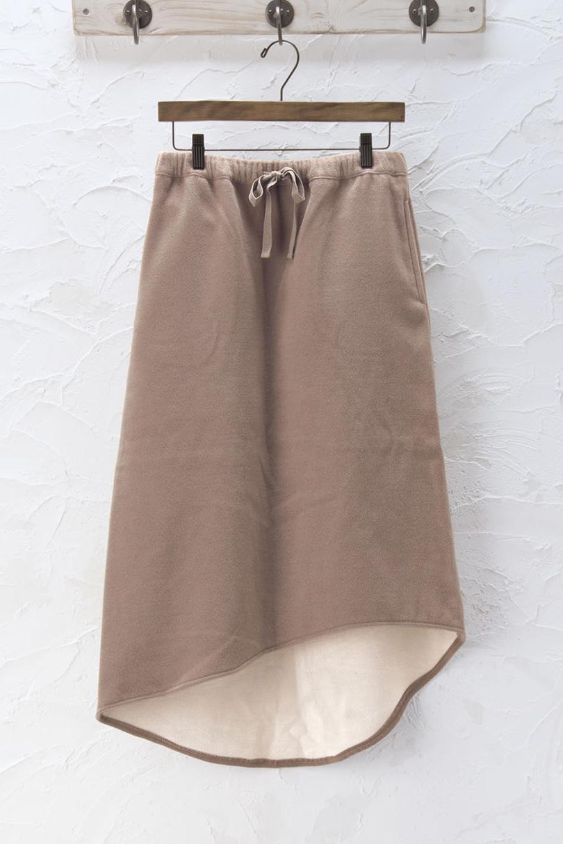 ダブルフェイスロングスカート