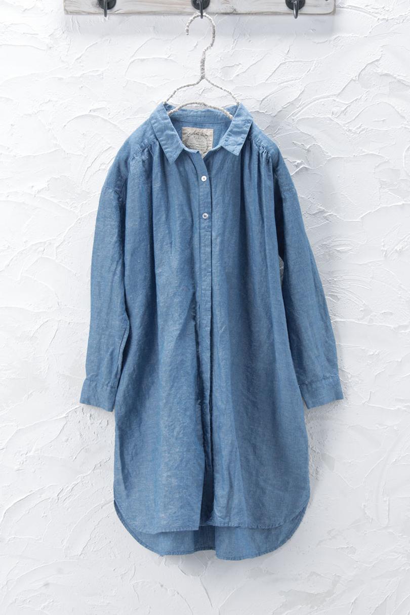 衿付きチュニック(製品洗い)