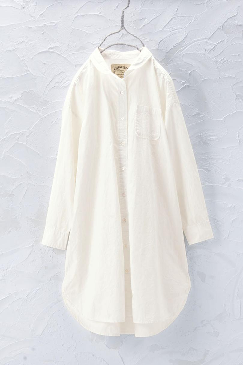 丸衿チュニックシャツ(製品洗い)