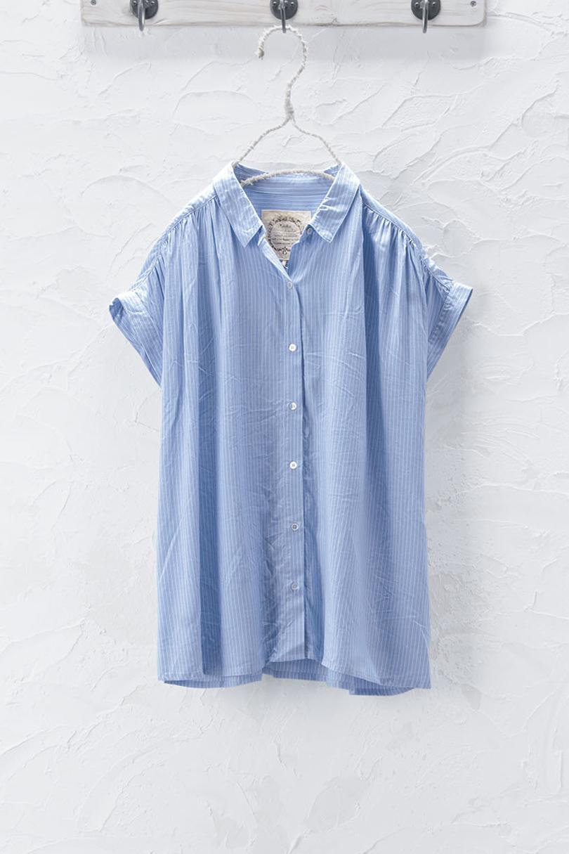 ギャザーシャツ(01・03:製品洗い)