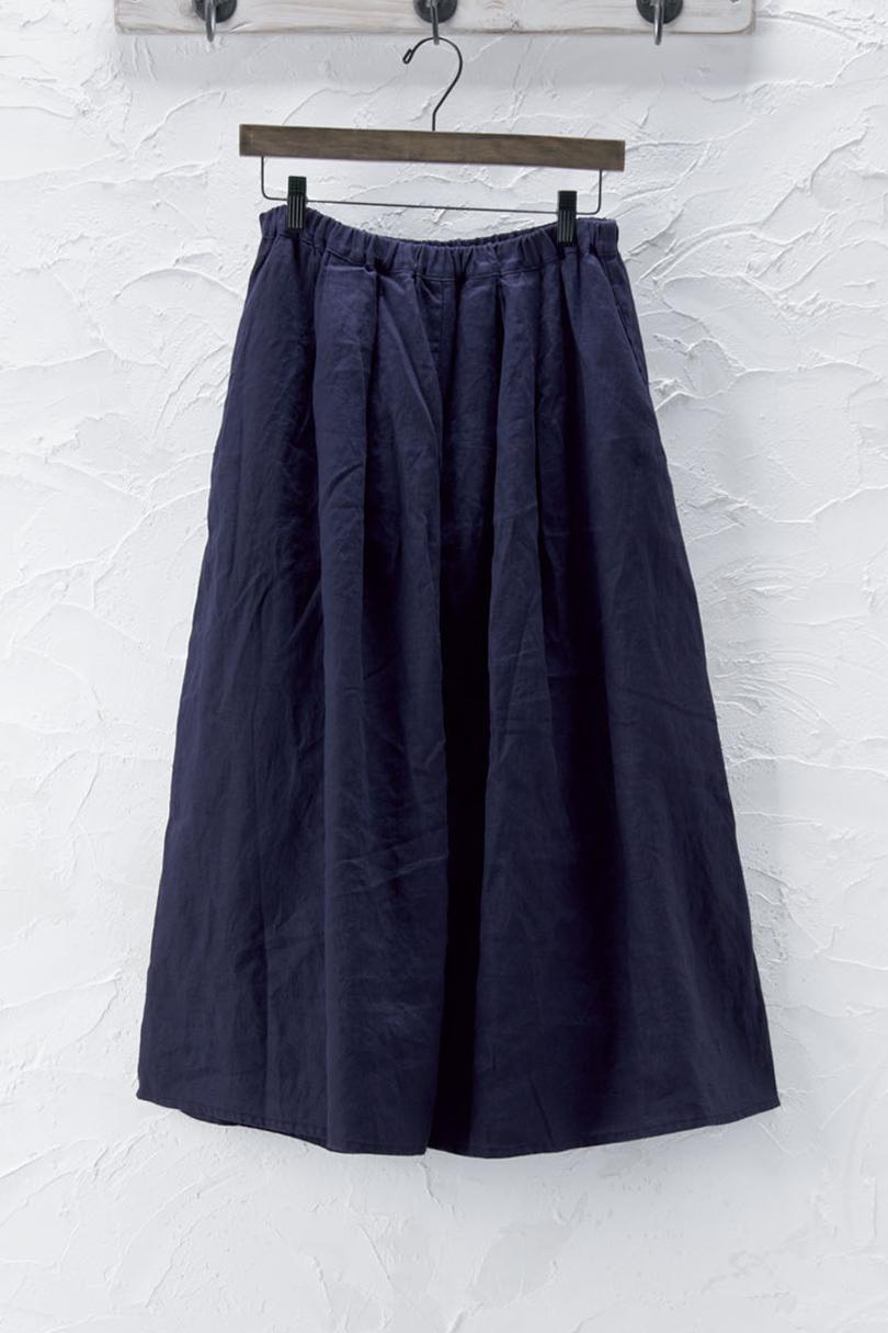 ギャザーフレアスカート(製品洗い)