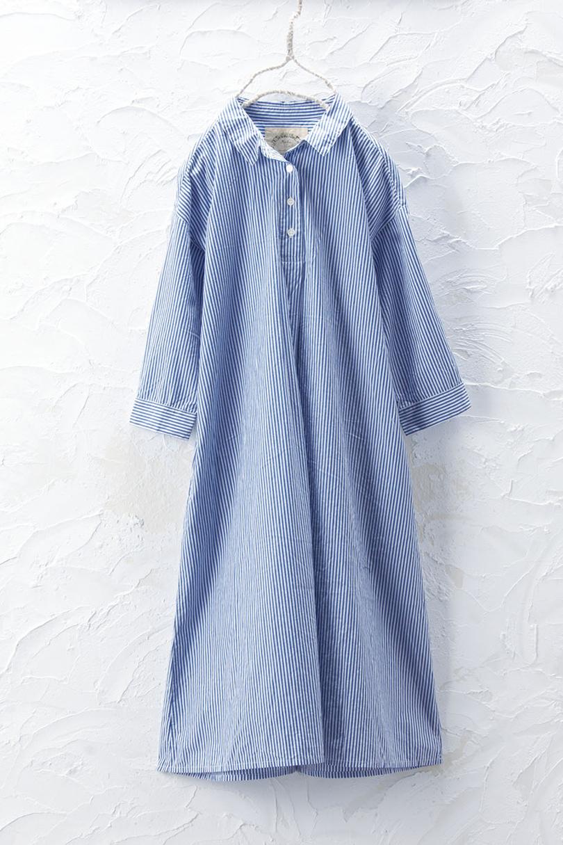 七分袖ワンピース(製品洗い)