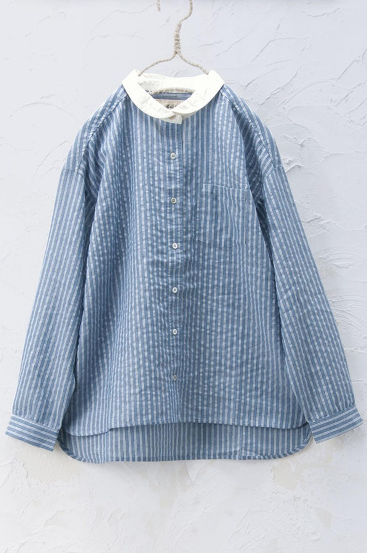 丸衿シャツ(製品洗い)
