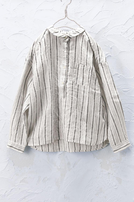 丸衿プルオーバーシャツ(製品洗い)