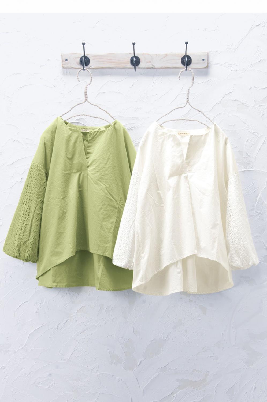 袖ボリュームプルオーバー(製品洗い)