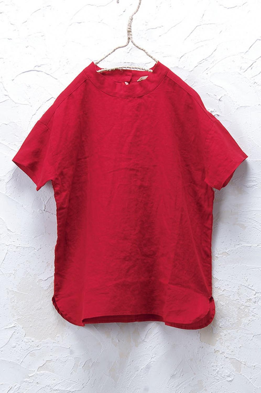 スタンドカラーブラウス(製品洗い)