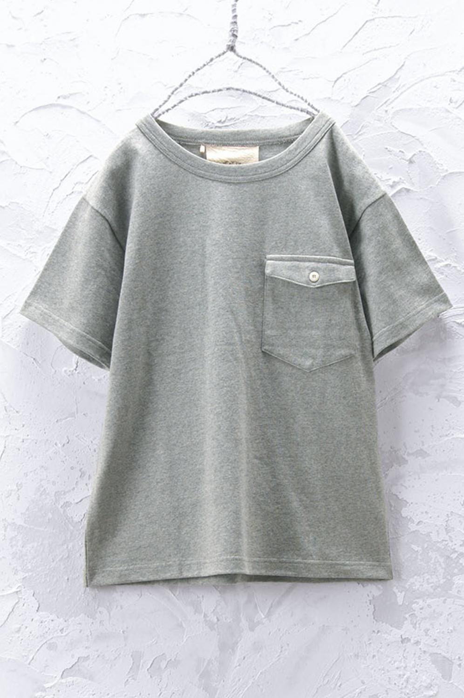 ポケット付きTシャツ(製品洗い)