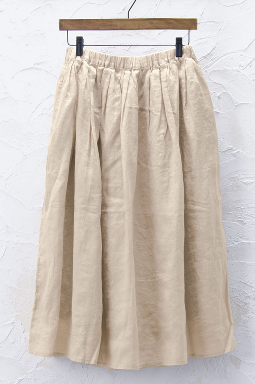 タックギャザースカート(製品洗い)