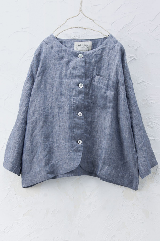 ノーカラージャケット(製品洗い)