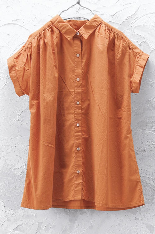 ギャザーシャツ(製品洗い)