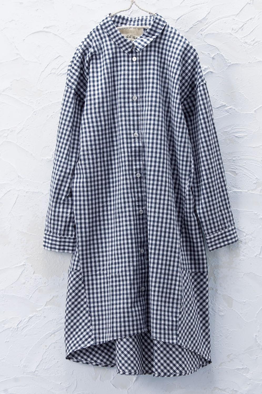 コクーンシャツチュニック(製品洗い)