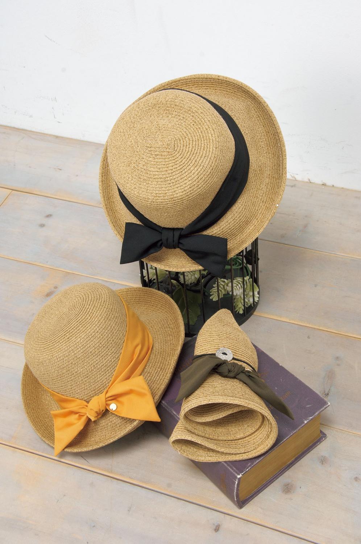 折り畳み麦わら帽子
