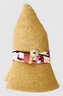 花柄折り畳み麦わら帽
