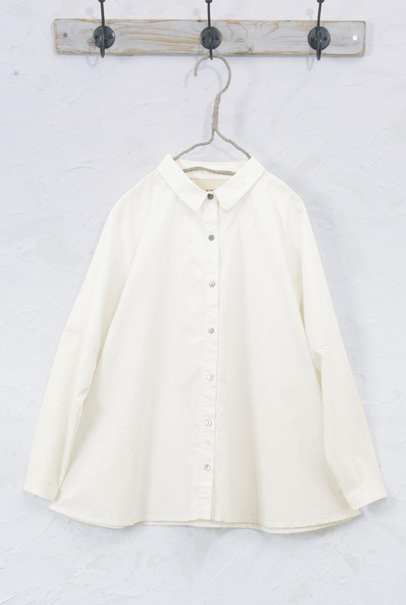 異素材使いシャツ(製品洗い)<br />□JCF-0802