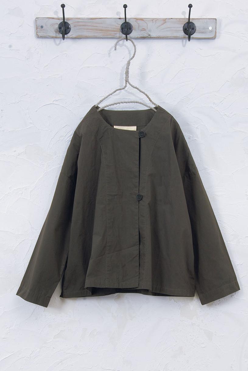 ノーカラージャケット(製品洗い)<br />□JCF-0805