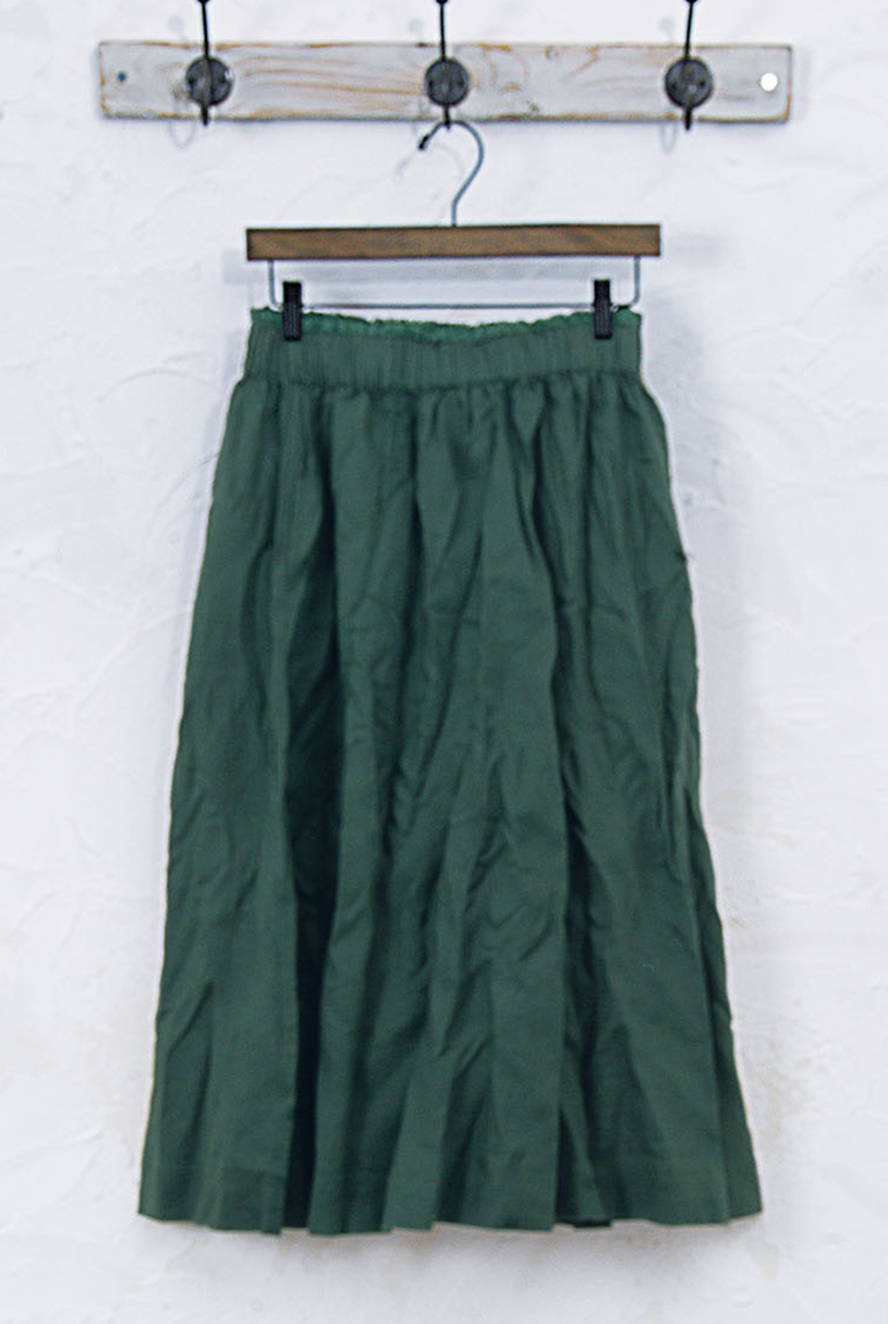 ワッシャーギャザースカート(製品洗い)<br />□JCF-0810
