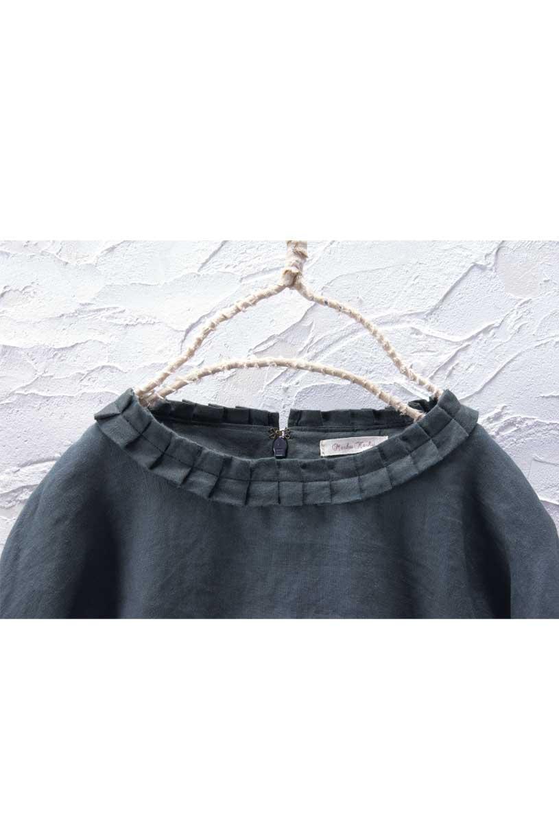 タック衿ブラウス(製品洗い)<br>□JCF-0909