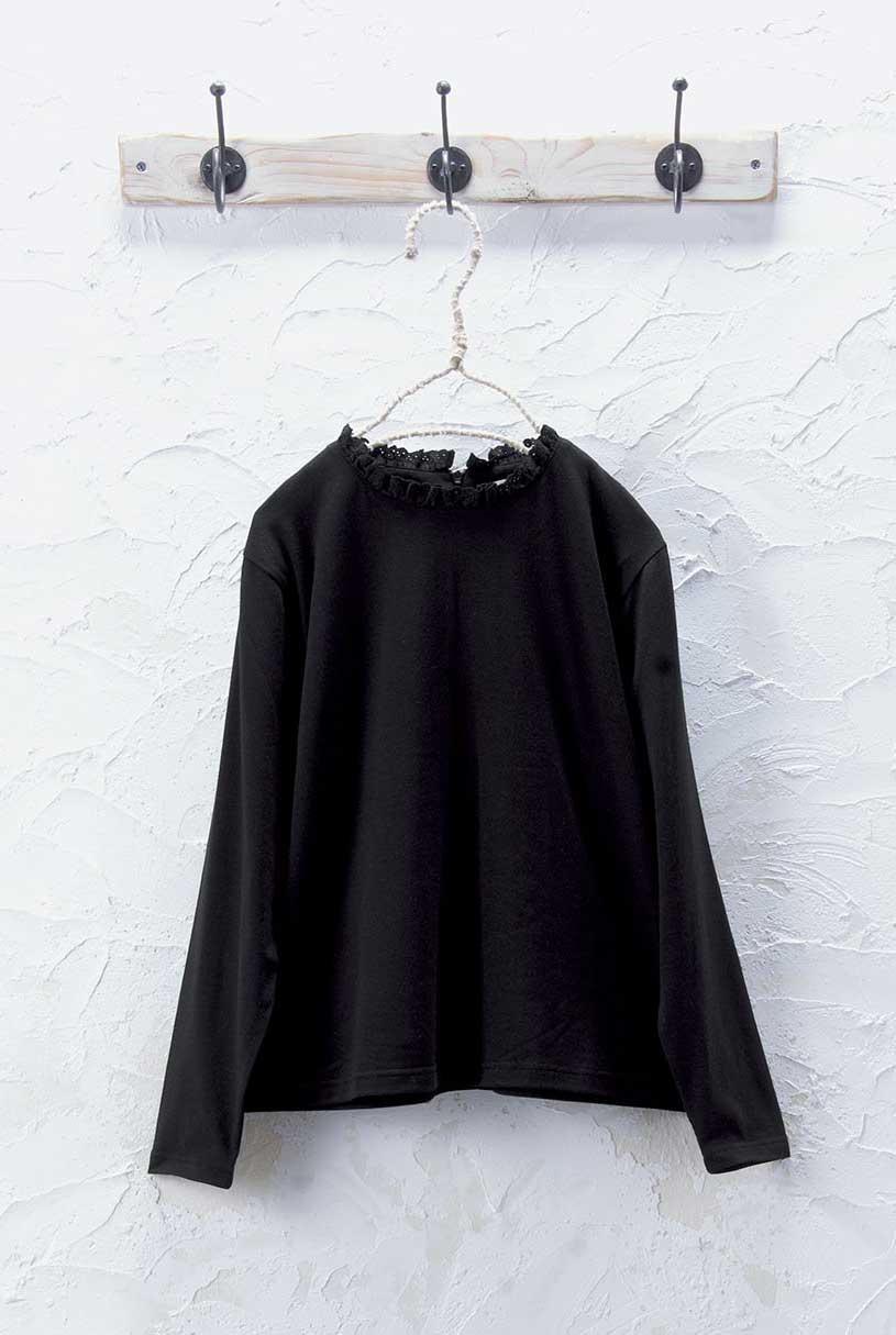 フリルカラーTシャツ<br />□JCN-0914
