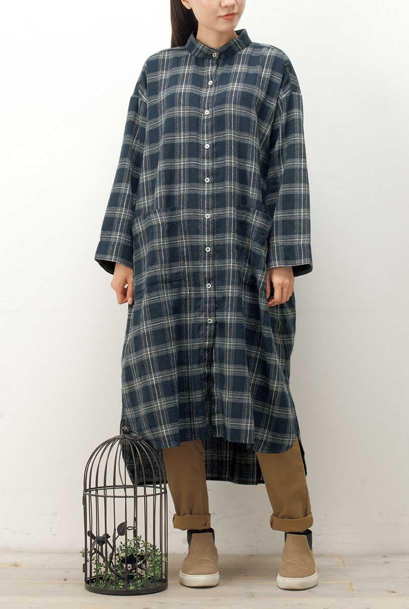 シャツワンピース(製品洗い)<br>□JPF-0921