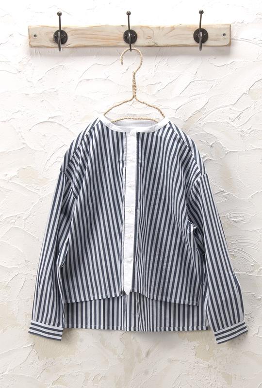 ノーカラーシャツ<br />□JCF-0225