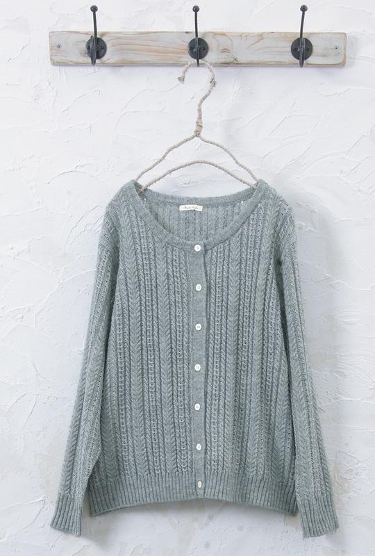 透かし編みカーディガン<br>□JPS-1019