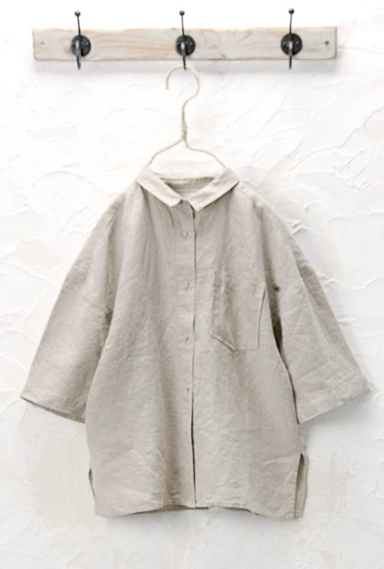 ちび衿シャツ(製品洗い)<br />□JCF-0322