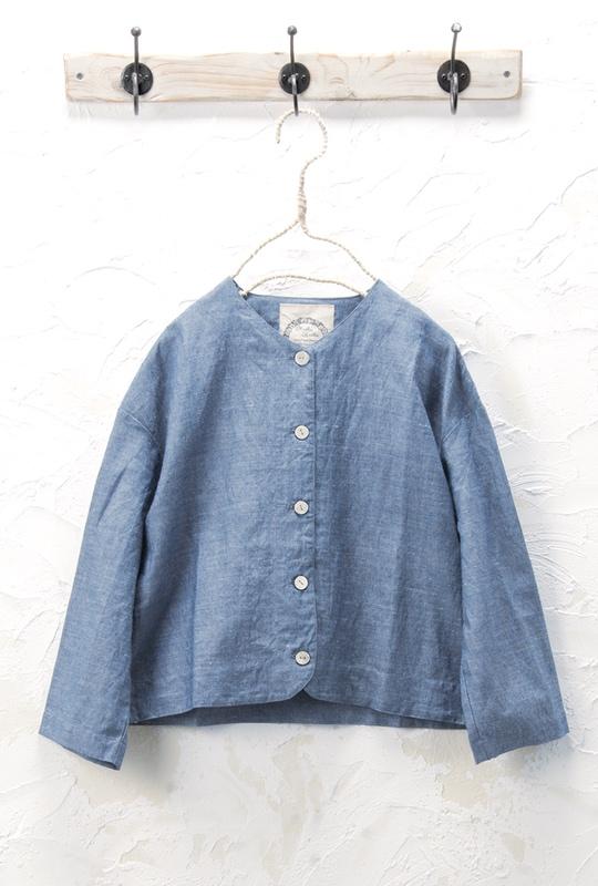 Vネックジャケット(製品洗い)<br />□KCF-0420