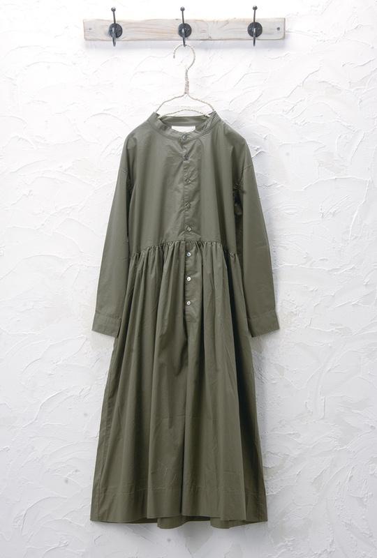 ギャザーワンピース(製品洗い)<br>□JMF-0305