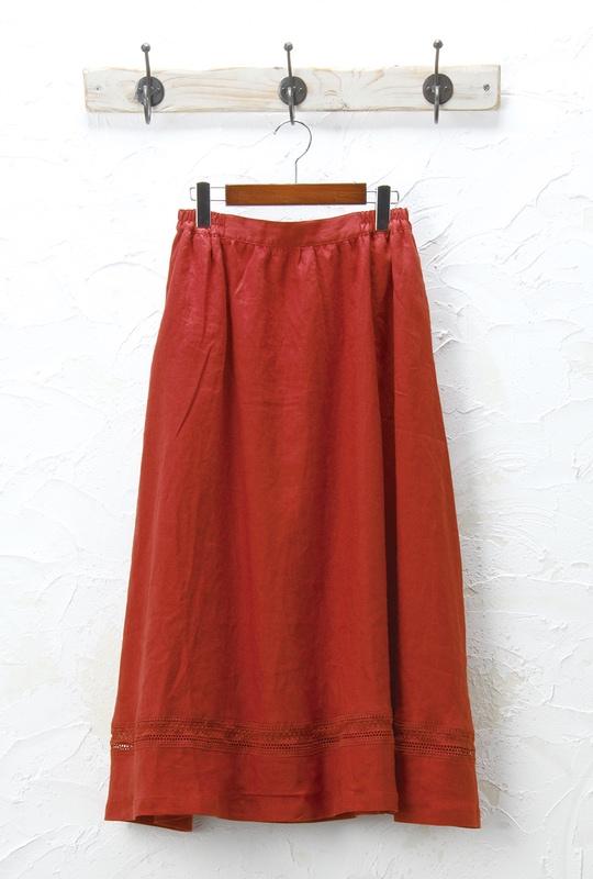 リネンスカート(製品洗い)<br />□JMF-0304