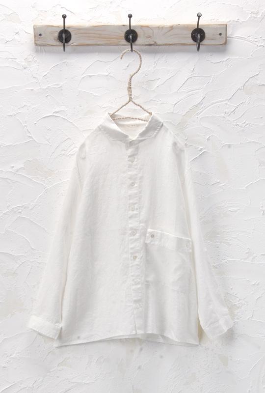 ポケット付きシャツ(製品洗い)<br />□KMF-0408
