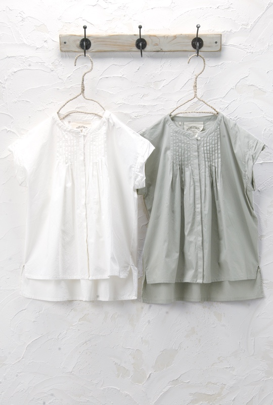 ピンタックシャツ(製品洗い)<br />□KCF-0425