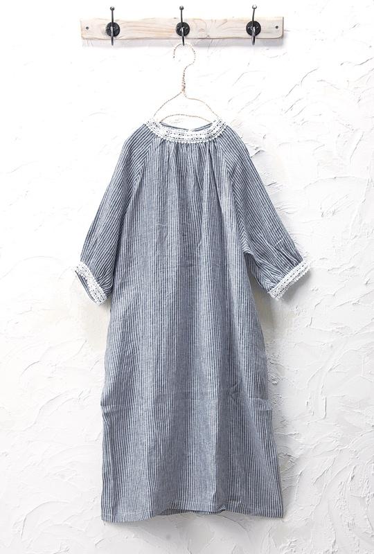 レースワンピース(製品洗い)<br>□KMF-0402