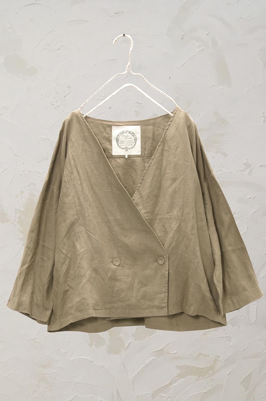 Wボタンジャケット(製品洗い)<br />□KCF-0525