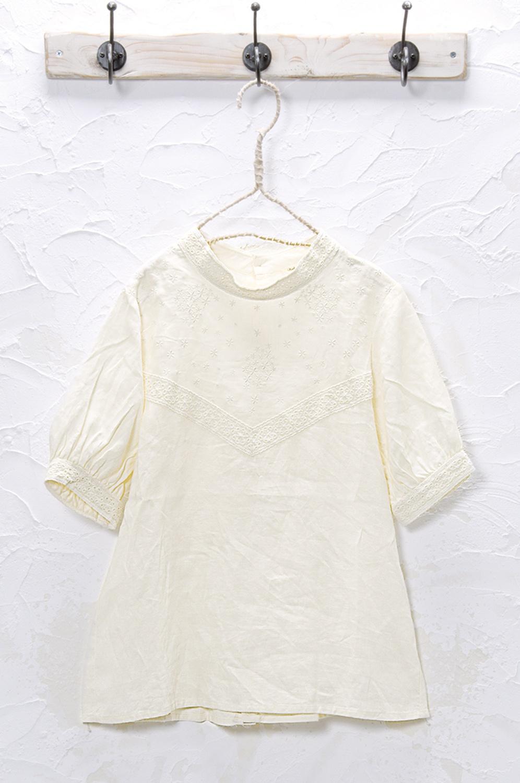 刺繍プルオーバー(製品洗い)<br />□KMF-0501