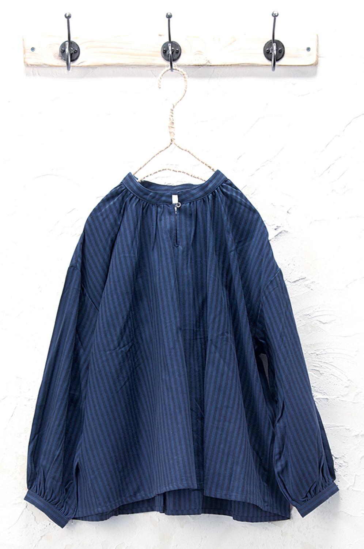 ストライププルオーバー(製品洗い)<br />□KCF-0818