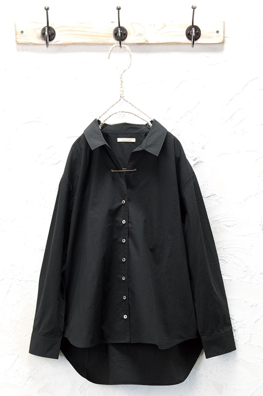 ピン付きシャツ(製品洗い)<br />□KMF-0908