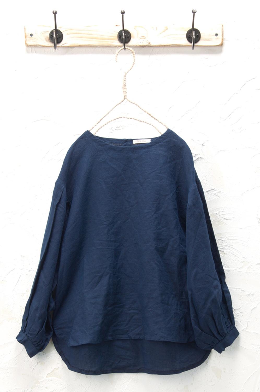 ボリューム袖プルオーバー(製品洗い)<br />□KCF-0933